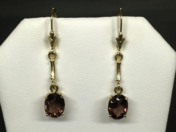 14ky Amethyst earrings