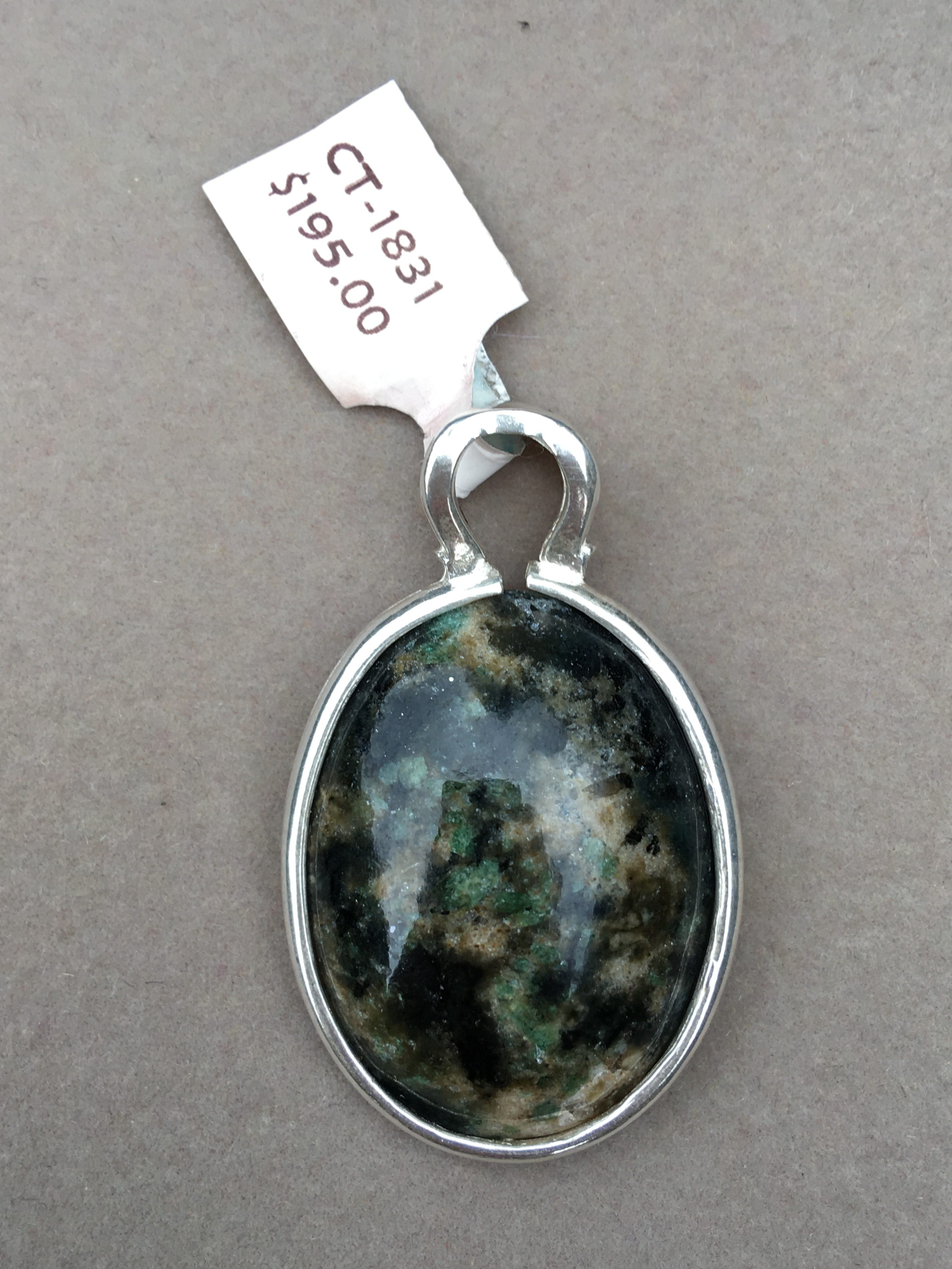 Crabtree Emerald Sterling Silver Pendant