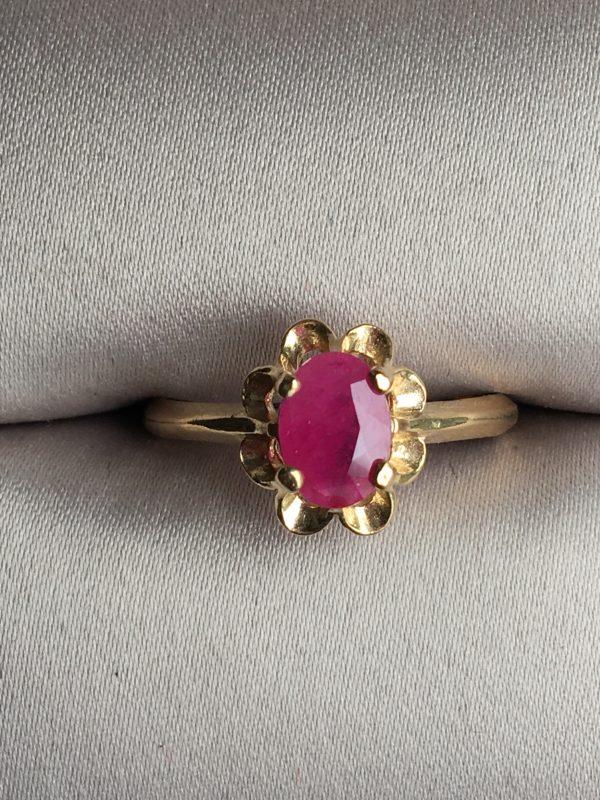14K Gold Ruby Ring Main