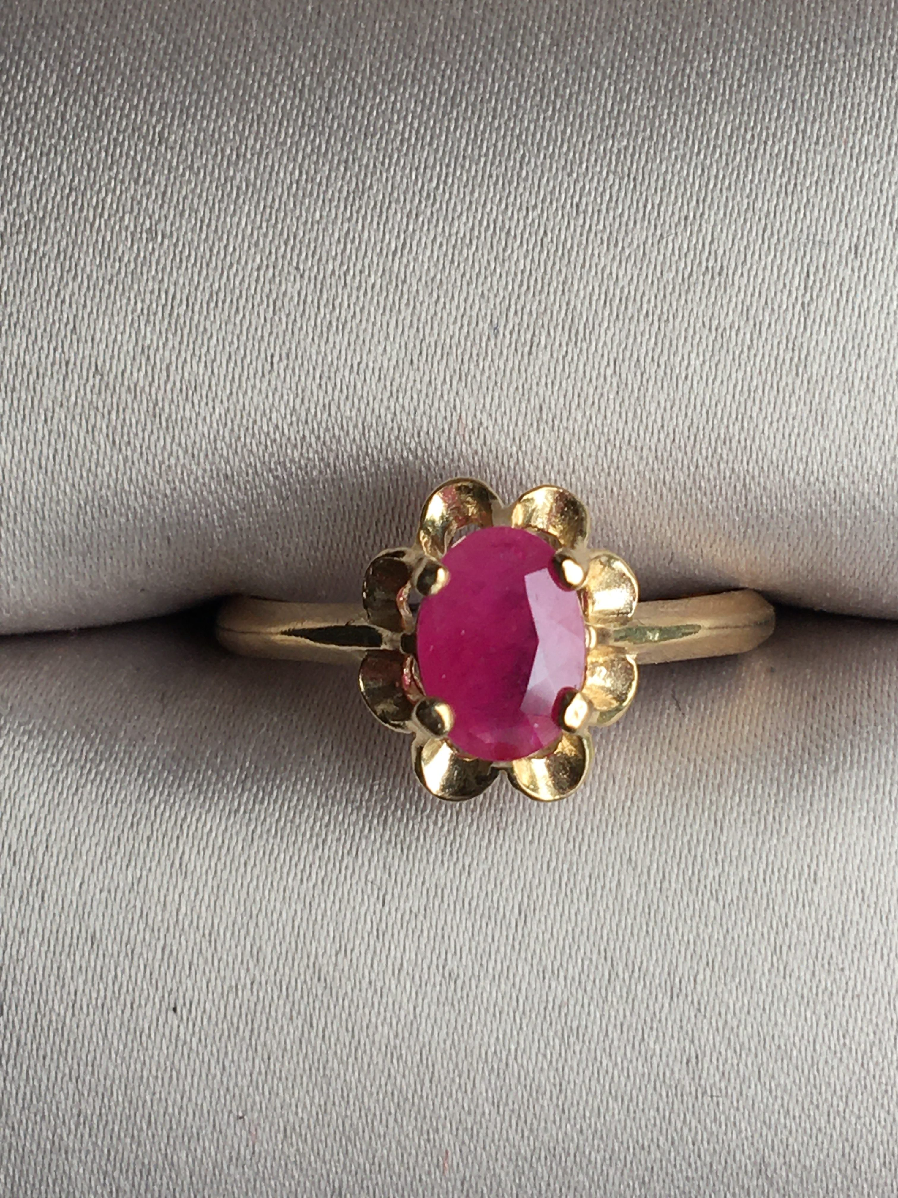 14K Gold Ruby Ring Main