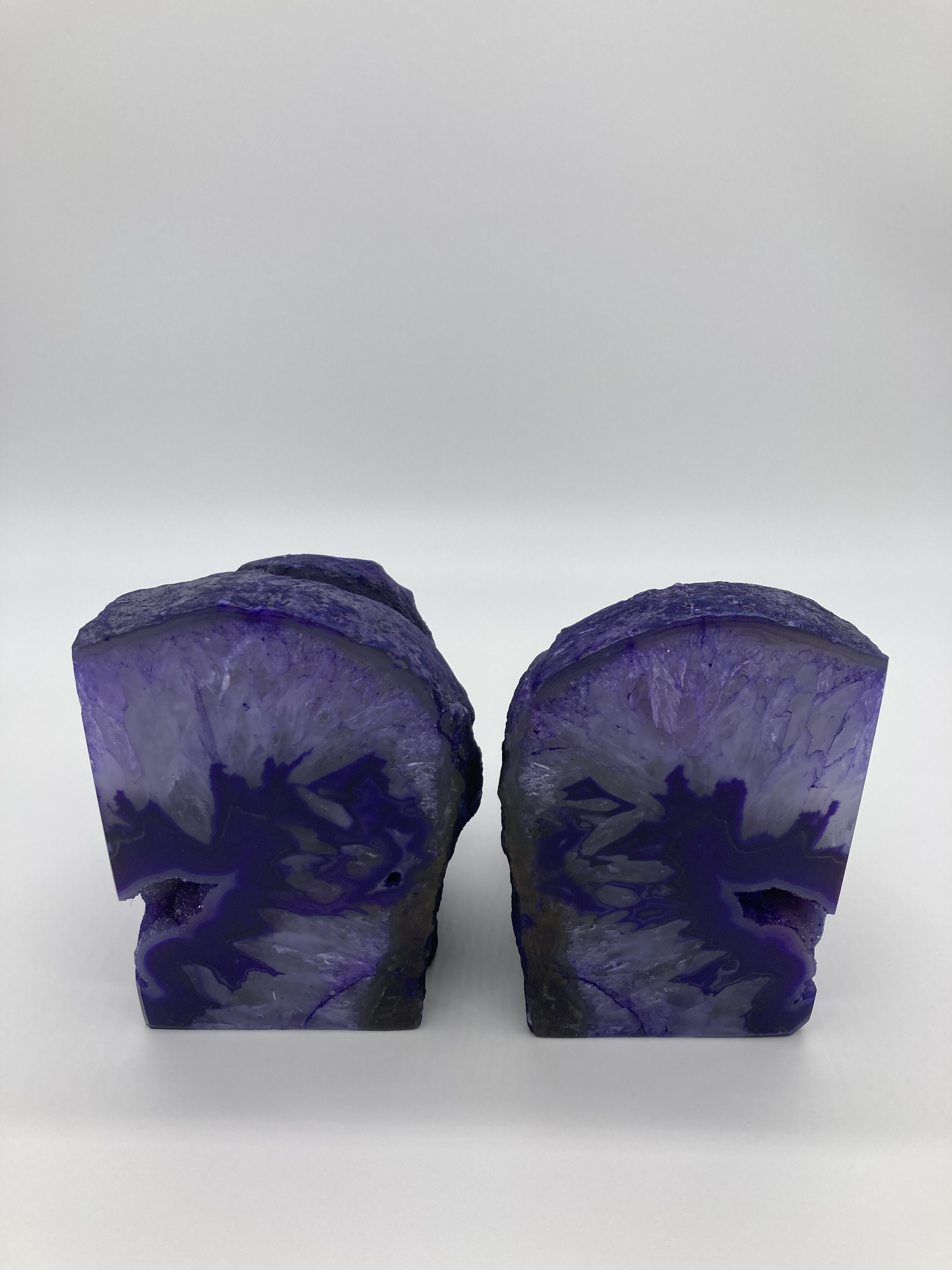 Purple Agate Bookends BE-16 2