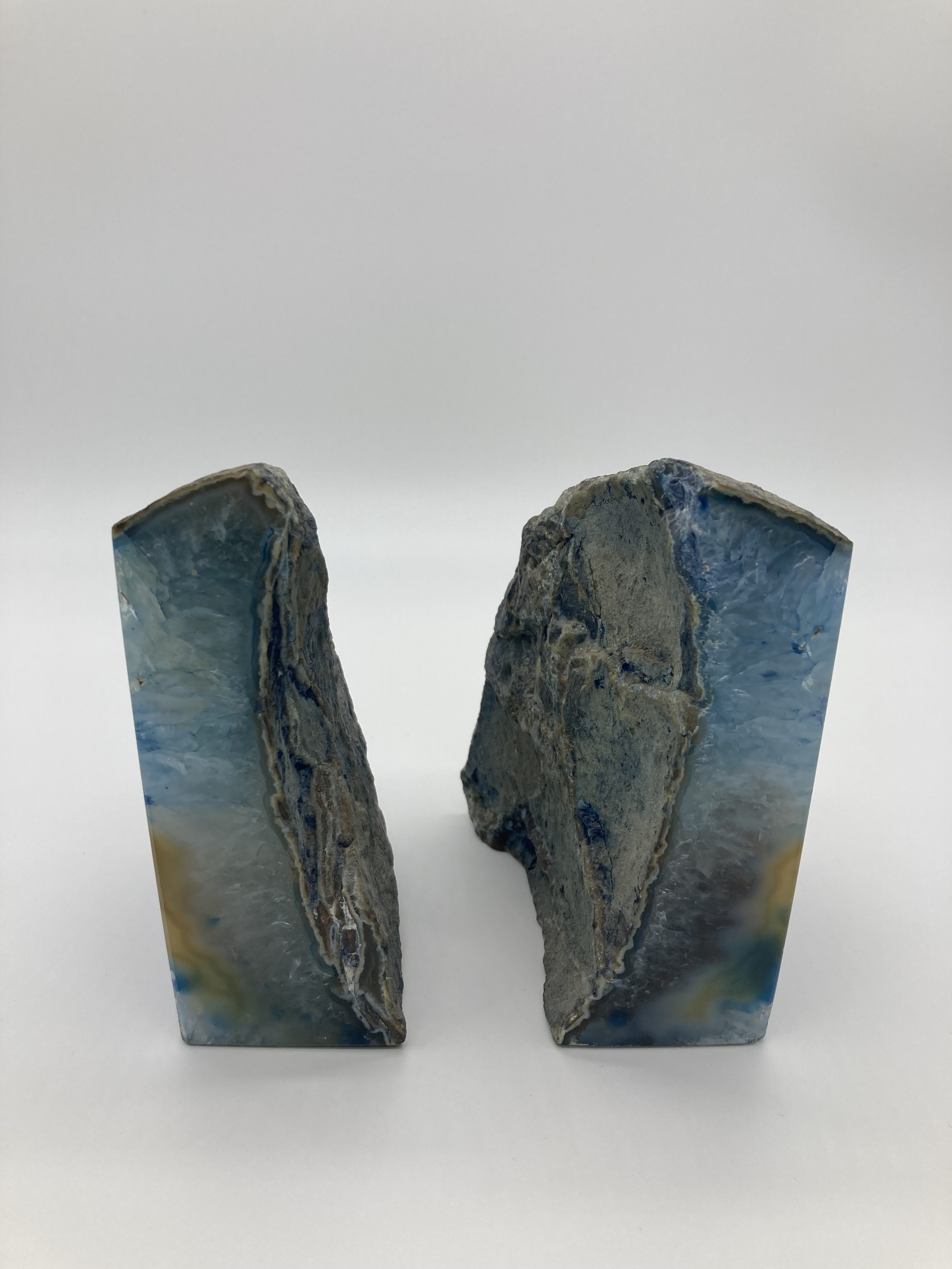 Blue Agate Bookends BE-17 2
