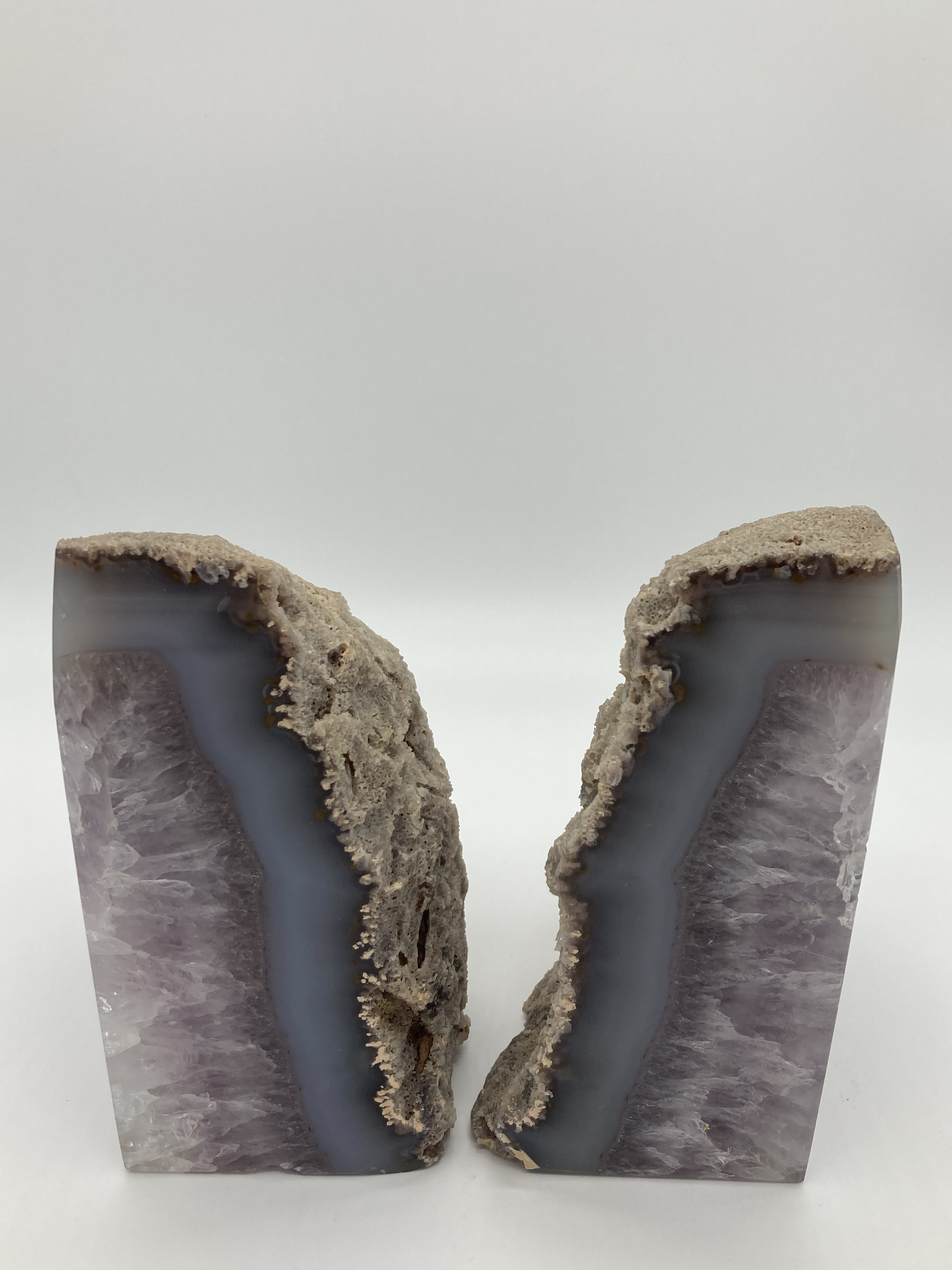 Agate Amethyst Bookends 3